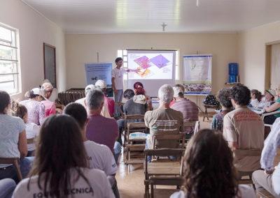 Apresentação para produtores rurais do sul de Minas Gerais sobre panorama do Sistema Cantareira e a importância das ações no campo - Crédito: Tiago Baccarin/ Estúdio Garagem