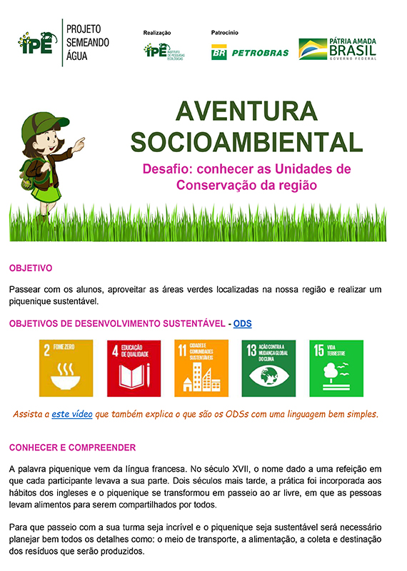 Aventura Socioambiental – Conhecer as Unidades de Conservação da Região