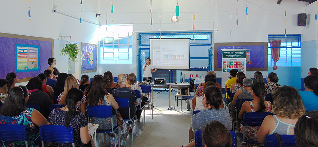 Equipe de educação do Projeto Semeando Água participa, como parceira, das reuniões de planejamento da rede municipal de ensino de Nazaré Paulista (SP)